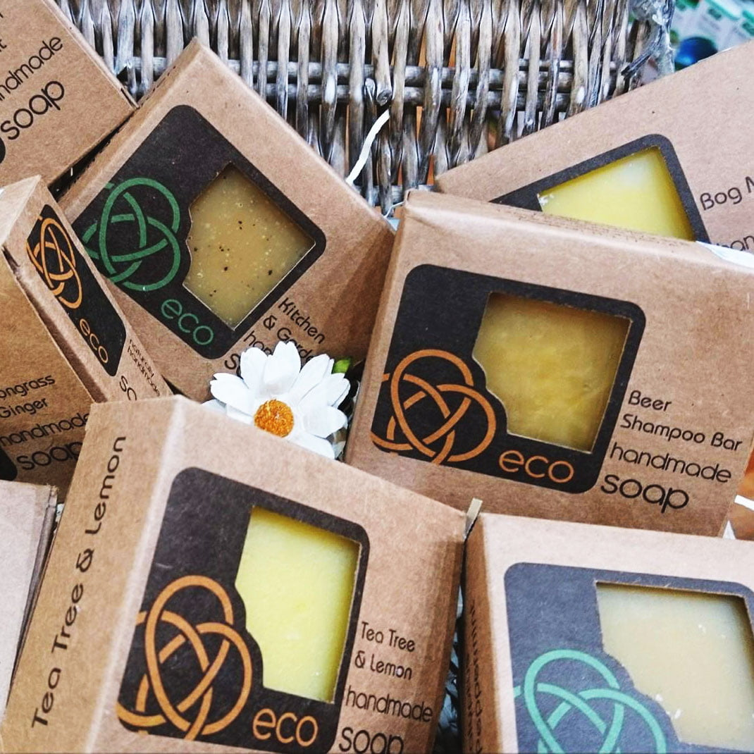 Eco soaps, beer shampoo bar, tea tree & lemon handmade soap in Highland Health Store Natural Remedies shop