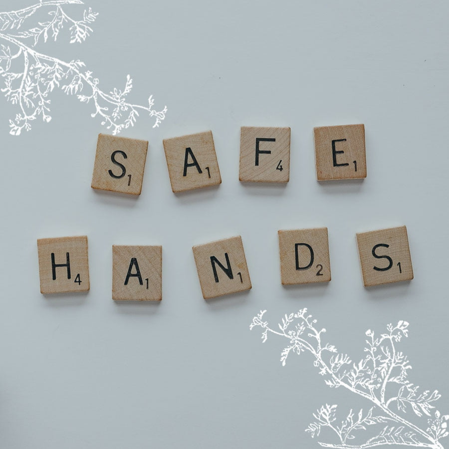 """Letters written the words """"Safe Hands"""" as Highland Health Store are creating an environmentally friendly ambiance in their stores cleaned with green products"""