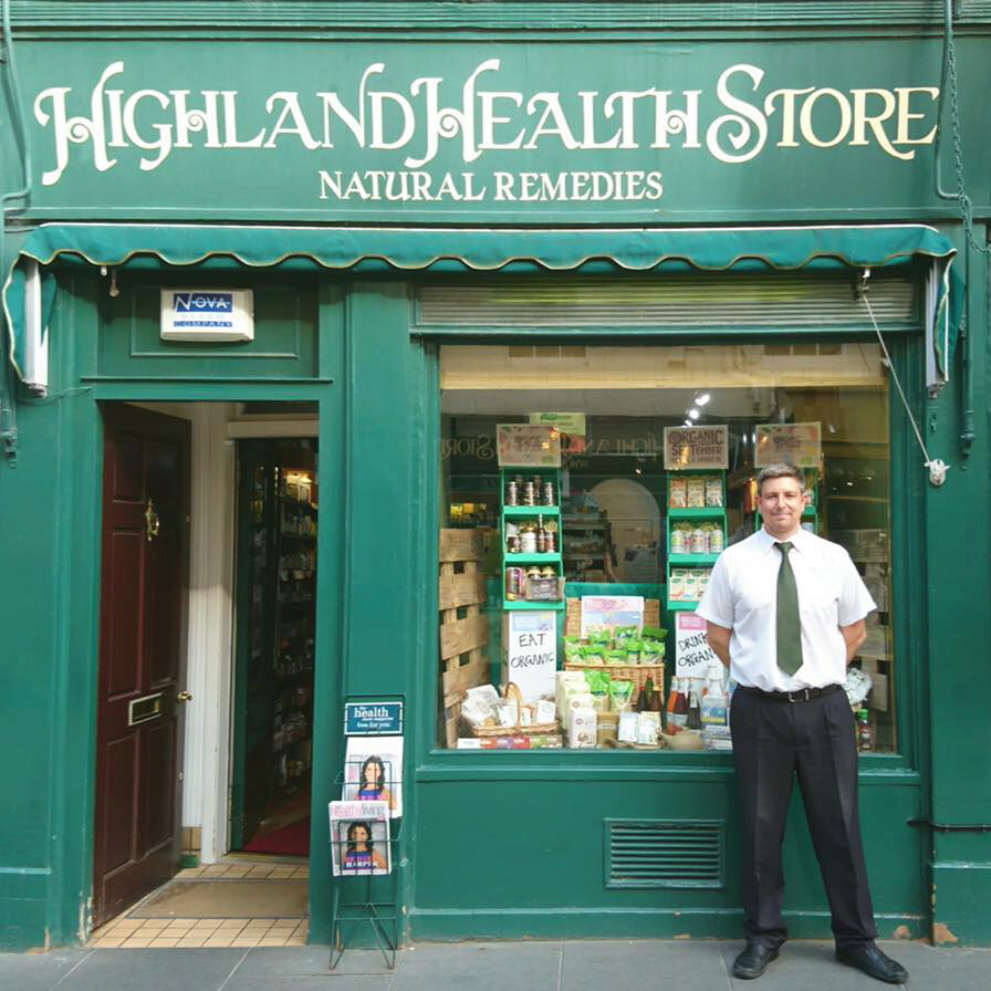 Highland Heath Store Natural Remedies & Wholefoods local shops front door