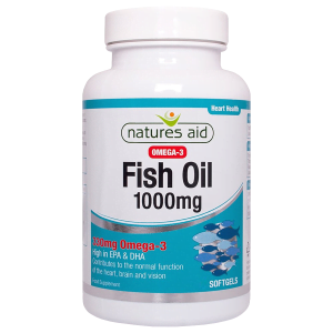 Natures Aid Fish Oil 1000mg - 330mg Omega-3 High in EPA & DHA - 90 softgels - online shop product image