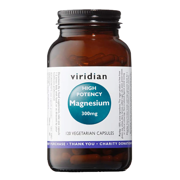 Viridian High Potency Magnesium 300 mg bottle - 120 vegetarian Capsules - - online shop product image