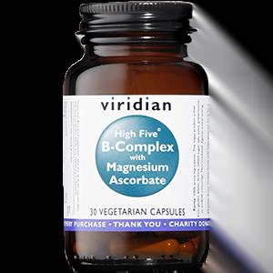 Viridian B-Complex With Magnesium Ascorbate 30 Capsules