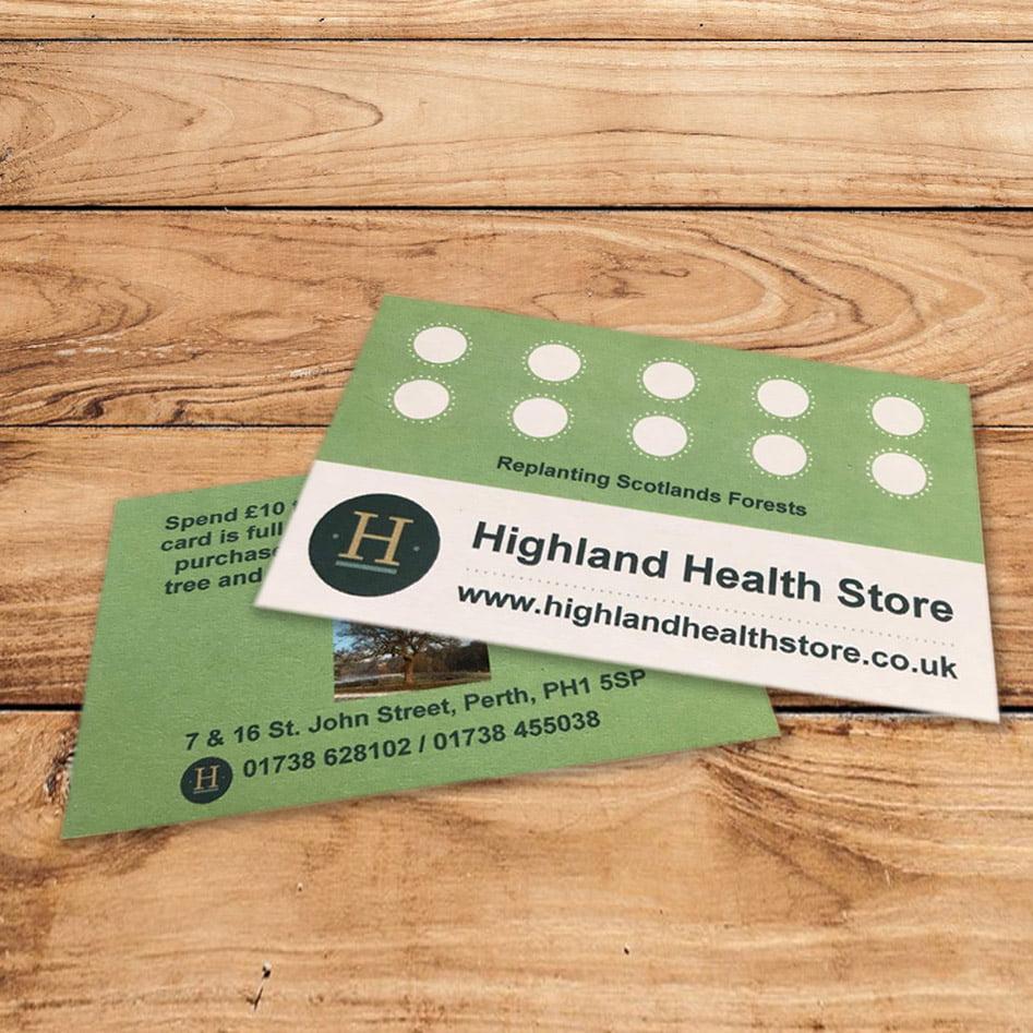 Highland Health Store Loyalty Card